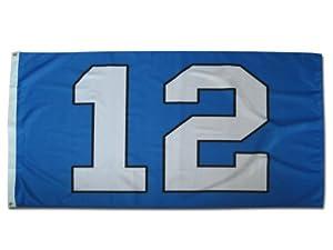 12th Man Seattle Seahawks Blue Flag 3' X 5' Pro Version