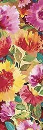 12W x 36H Dahlia II by Kim Parker - Stretched Canvas w/ BRUSHSTROKES