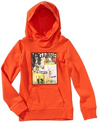 Tom Tailor Kids Pull Manches longues Fille - Rouge - Rot (4450  tigerlily red) - FR : 8 ans (Taille fabricant : 128)