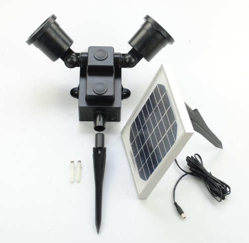 24 Led Adjustable Dual Head Solar Powered Flood Light