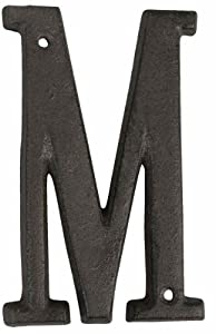 6Y0840-M House number / Street number - Letter M ca. 5.1 in by Clayre & Eef