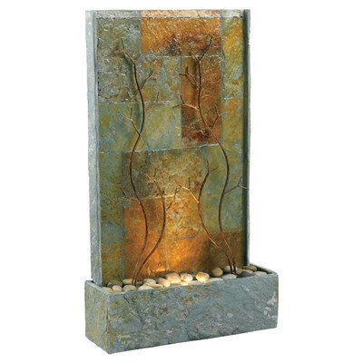Kenroy Home 50379SL Copper Vines Outdoor Floor Fountain