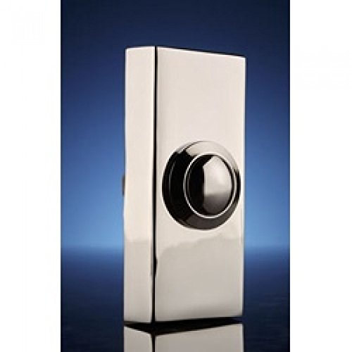 Advanced Byron Surface Doorbell Push - Chrome [IP1222] (Min 3yr Cleva® Warranty)