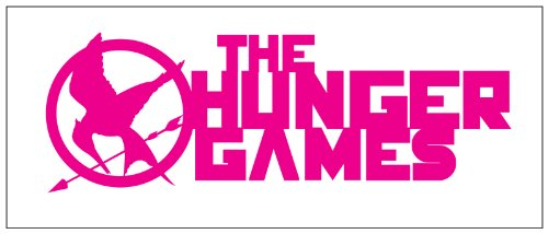 Hunger Games Design 2 Sticker Decal Pink