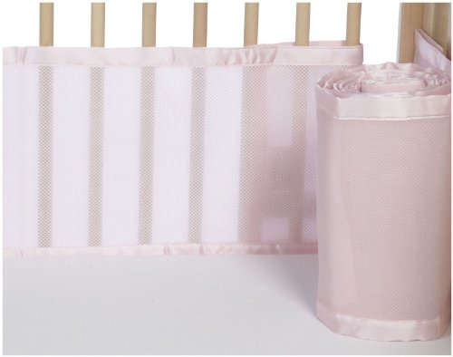 BreathableBaby Mesh Crib Liner - Light Pink (Breathable Mesh Crib Liner Pink compare prices)