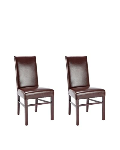 Safavieh Set of 2 Classic Side Chairs, Brown