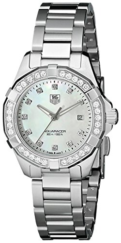 TAG-Heuer-Womens-WAY1414BA0920-Aquaracer-Diamond-Accented-Stainless-Steel-Watch