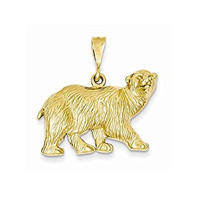 14k Gold Polar Bear Charm