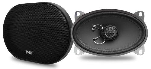 Pyle PLSL4602 Plus Series 4 x 6 Inch Slim Mount 160-Watt 2-Way Coaxial Speakers, Set of 2