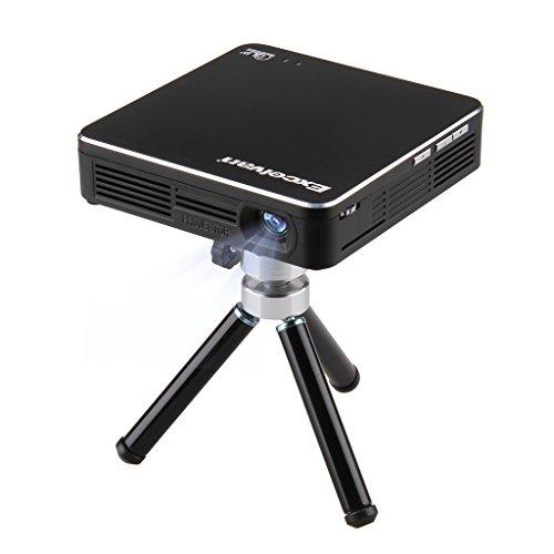 Excelvan HDMI ミニプロジェクター DLPモバイルプロジェクター 854*480解像度 最大100ルーメン iPhone/iPod/iPad/Android/PCなどマルチ機種に対応 三脚付き