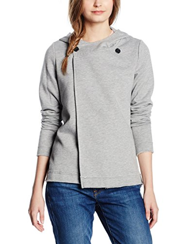ONLY Onlfianto L/S Highneck Overlap Swt, Felpa Donna, Grigio (Light Grey Melange), 44