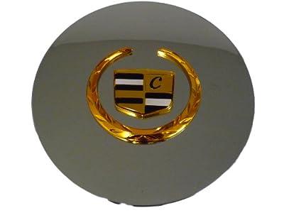 Otis Inc LA Cadillac Seville, Deville, El Dorado, DTS Chrome Wheel Center Cap with Gold Wreath and Crest
