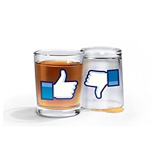 Fred and Friends I Like Shots Thumbs-Up/Thumbs-Down Shotglasses, Set of 2