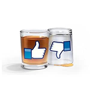 Fred & Friends I LIKE SHOTS Thumbs-Up/Thumbs-Down Shotglasses, Set of 2