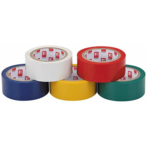 5 Rolls 12 Ft. X 3/4 In. Color Coded Electrical Tape From Tnm