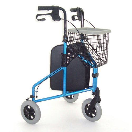 Z-TEC - Deluxe Lightweight Aluminium Tri-Walker In Frost Blue.