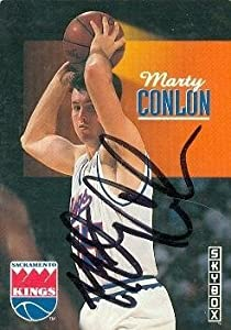 Marty Conlon Autographed Hand Signed Basketball card (Sacramento Kings) 1993 Skybox... by Hall of Fame Memorabilia