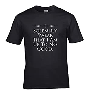 I Solemnly Swear I Am Up To No Good Tshirt Potterverse Inspired Quote Mens Regular Fit Small - XXLarge Multiple Colours