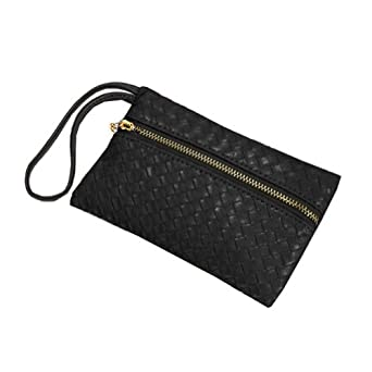 Women Faux Leather Party Clutch