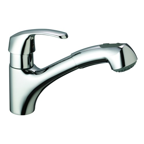 GROHE 32 999 000 Alira Pull-Out Spray Kitchen Sink Faucet, Chrome