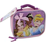 Disney Princess 8.5H Pink Lunch Bag In Silk Screen Print