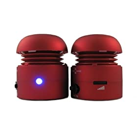 Chill Pill Mobile Speakers iPod/MP3 Players & Laptops - Red