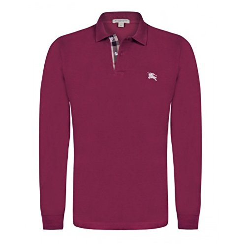 BURBERRY Polo Uomo Manica Lunga Colore Brilliant Violet (L)
