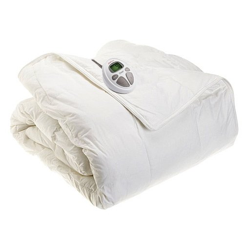 Sunbeam Electric Heated Warming Comforter Premium Luxury - Full / Queen Size back-546253