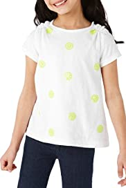 Autograph Pure Cotton Sequin Spotted T-Shirt [T77-4966A-Z]
