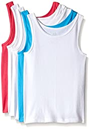 Fruit of the Loom Big Girls\'  Tank , Assorted, Medium(Pack of 5)