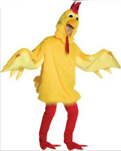 one size - Fuzzy Chicken Adult Mascot Costume