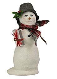 Byers Choice Snowman with Christmas Package 2015 by Byers Choice