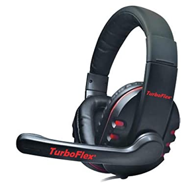 """TurboFlexâ""""¢ PC Gaming Headset - Amazing Crisp Clear Stereo Over Ear Headphones with Microphone / Universal Computer Headset for Games, Skype, VoIP, etc. / Exceptional Noise Reduction and Noise Cancelling / Powerful Drivers with Deep Rich Bass / Ultra Lig"""