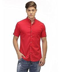 Jogur Red Color Casual Shirt for Men