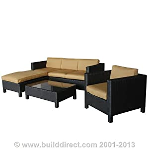 Kontiki Patio Furniture - The Ritz Sunbrella Series - 4 Piece Sofa Set from Kontiki