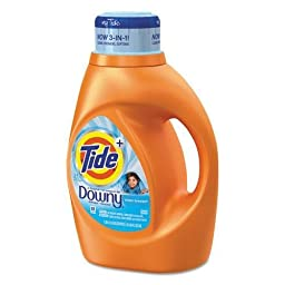PGC87458 Touch of Downy Liquid Laundry Detergent, Clean Breeze Scent, 46 oz. Bottle