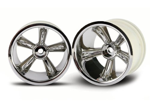 Traxxas 4172 Rear Wheel Chrome, Nitro Rustler, 2-Piece