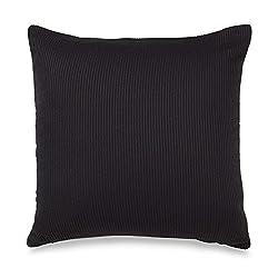 Brielle Stratosphere Square Throw Pillow, 16 x 16, Black/Cream