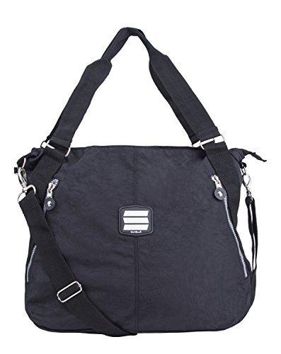 Suvelle Everyday-Borsa da viaggio, borsa a tracolla, borsa a spalla 1932 borsetta, Nero (nero),