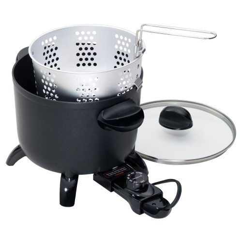 Presto Presto 6006 Kitchen Kettle Multi-Cooker, Black, Aluminum Pressure Cookers, 6 Qt.
