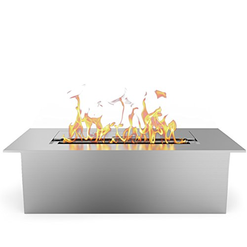 Elite Flame 12 Inch Ventless Ethanol Fireplace Burner Insert
