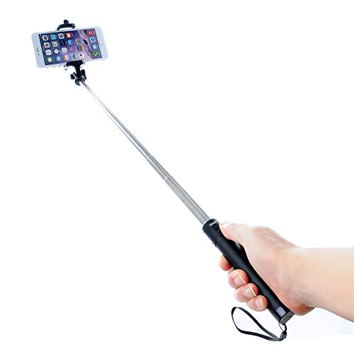 ieazy extendable selfie stick with built in bluetooth remote shutter with gadget. Black Bedroom Furniture Sets. Home Design Ideas