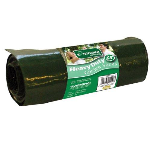 25 Pack Heavy Duty Garden Sacks Strong Black Bin Refuse Bags