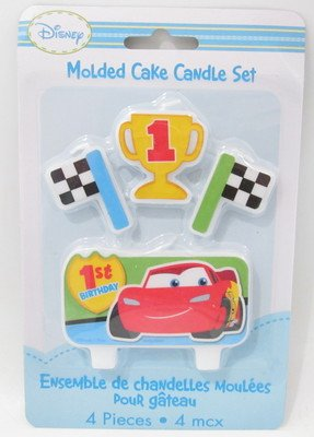 Disney Cars 1st Birthday Molded Candle Set
