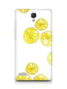 Amez designer printed 3d premium high quality back case cover for Xiaomi Redmi Note 4G (Lovely Lemons)