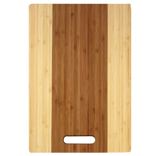 Helen's Asian Kitchen Bamboo Cutting Board with Hanging Ring, Striped