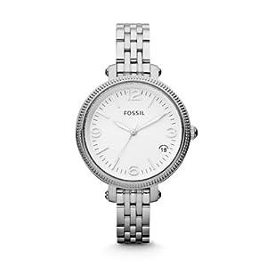 Fossil Damen-Armbanduhr XS Analog Quarz Edelstahl ES3180