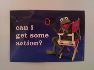 The Muppets TV Show/Movie Sticker - Kermit - Can I Get Some Action?