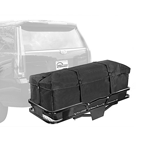 Direct Aftermarket Folding Hitch Cargo Carrier 60 inch Hauler 2 inch Receiver and Cargo Bag Combo (Camping Cargo Trailer compare prices)