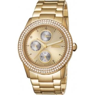 Esprit ES105912006 - Reloj analógico de cuarzo para mujer con correa de acero inoxidable, color dorado